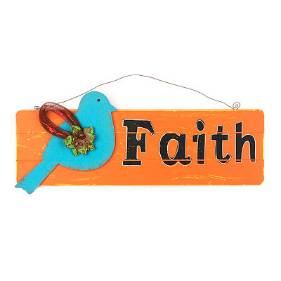 Faith Wall Hanger Plaque