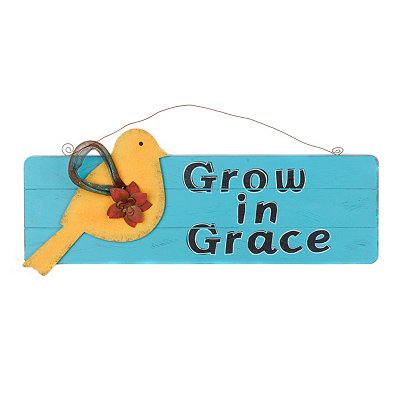 Grow in Grace Wall Plaque
