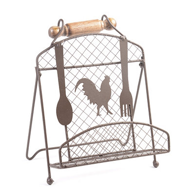 Country Rooster Wire Cookbook Stand