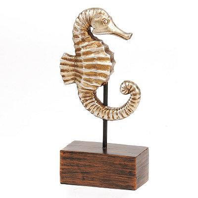Bronze Seahorse Statue