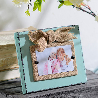 Rustic Turquoise Picture Frame, 3x5