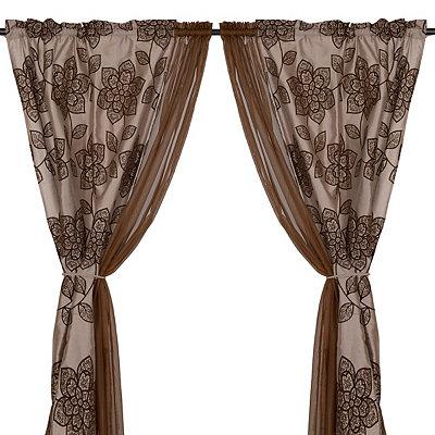 Medina Chocolate 6-piece Curtain Panel Set, 84 in.
