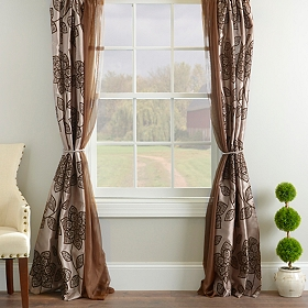 Medina Chocolate 6-piece Curtain Panel Set, 84 in.