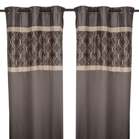Hunter Charcoal Curtain Panel Set, 84 in.