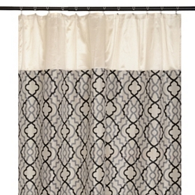 Marrakech Black and Gray Shower Curtain