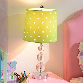 Lime Green Polka Dot Table Lamp