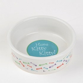 Here Kitty Color Cat Dish