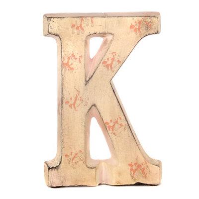 Cream Ceramic Monogram K Statue