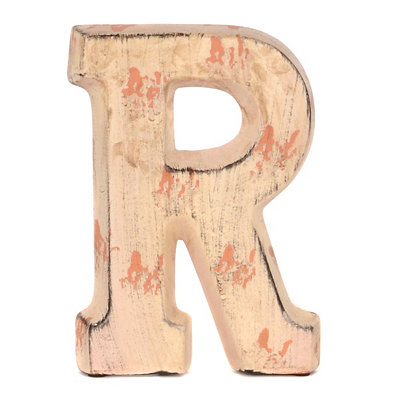 Cream Ceramic Monogram R Statue