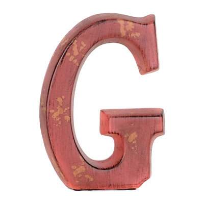 Red Ceramic Monogram G Statue
