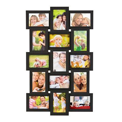 Black 15-Opening Collage Frame