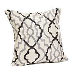 Marrakech Black and Gray Pillow