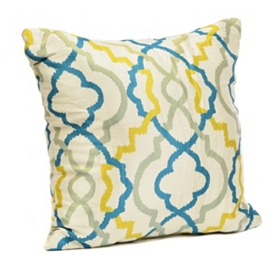 Marrakech Blue and Green Pillow
