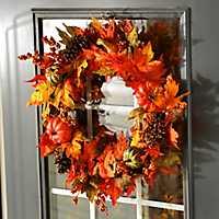Pumpkin Leaf Wreath