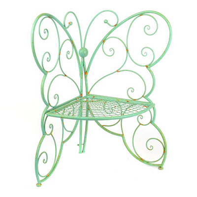 Patina Green Metal Outdoor Butterfly Chair