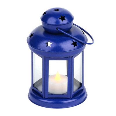 Star Spangled Blue Metal Lantern