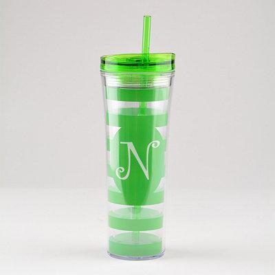 Green Monogram N Tumbler