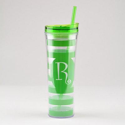 Green Monogram R Tumbler