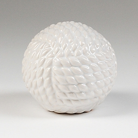 White Ceramic Rope Orb