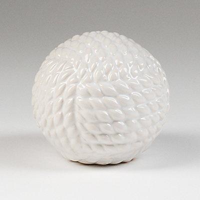 White Ceramic Rope Orb