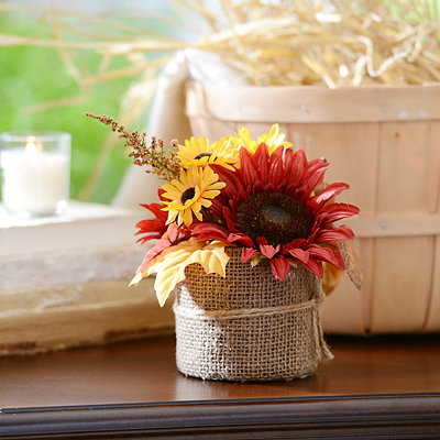 Burgundy Sunflower Floral Arrangement