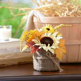 Ivory Sunflower Floral Arrangement