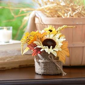 Ivory Sunflower Floral Arrangement