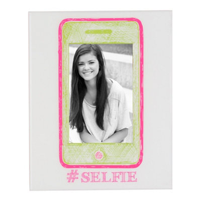 Pink & Green Selfie Picture Frame, 4x6