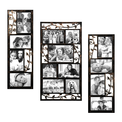 Bronze Scrolling Vine Collage Frames, Set of 3