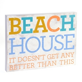 Beach House Wall Plaque