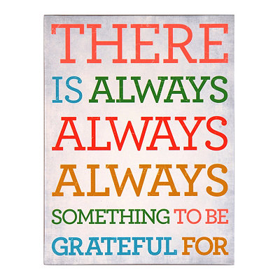 Something to Be Grateful For Wall Plaque