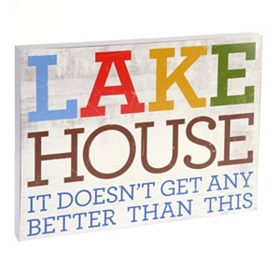 Lake House Wall Plaque