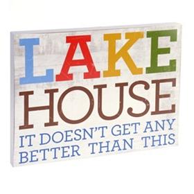 Lake House Wall Plaque