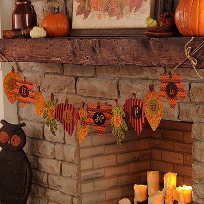 Be Thankful Autumn Leaf Banner
