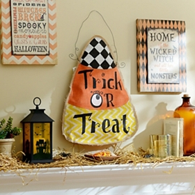 Trick or Treat Candy Corn Wall Hanger