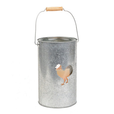 Galvanized Rooster Lantern, 10.25 in.
