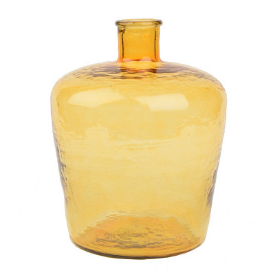 Amber Hammered Glass Bottle