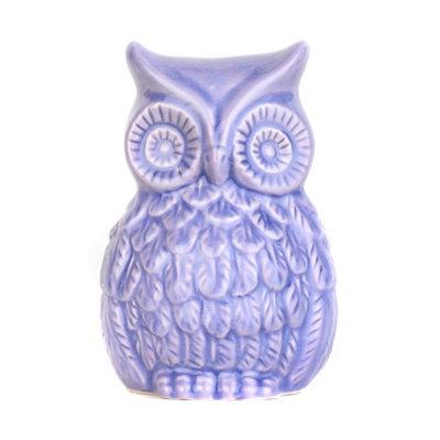 Lavender Ceramic Owl Statue