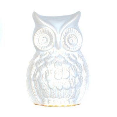 White Ceramic Owl Statue