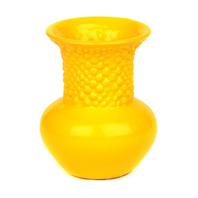 Yellow Ceramic Mini Vase