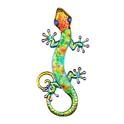Green Gecko Wall Plaque