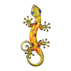 Yellow Gecko Wall Plaque
