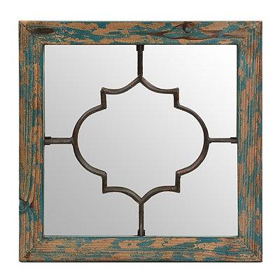Blue Geometric Mirrored Plaque