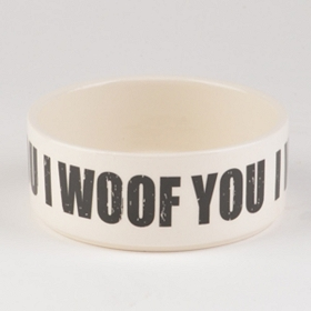 I Woof You Ceramic Dog Bowl