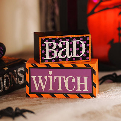 Reversible Good Witch, Bad Witch Plaque