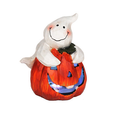 Pumpkin Patch Ghost LED Statue