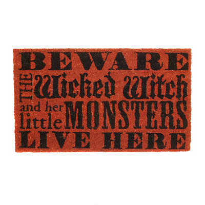 Witch & Little Monsters Doormat