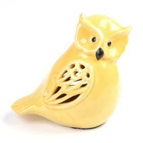 Pierced Yellow Owl Statue