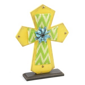 Green & Yellow Cross Statue