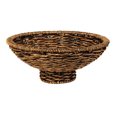 Brown Woven Hyacinth Bowl